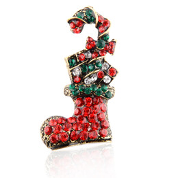$enCountryForm.capitalKeyWord Australia - Christmas new drop oil diamond magic shoes autumn and winter brooch