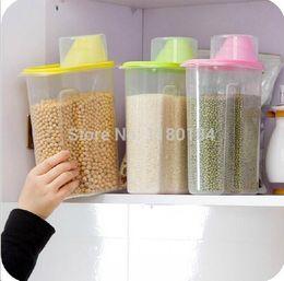 $enCountryForm.capitalKeyWord NZ - Wholesale- J0160 Large size cereals storage seaked tank dumping of antibacterial storage jars 2.5L 16x9x22cm 1PC free shipping