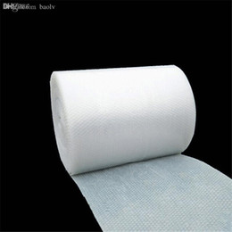 Wholesale Wholesale-1m * 50cm Bubble Film   Bubble Roll   Shockproof Air Foam Roll   Foam Packaging Material, Packing Wrap For Shipping