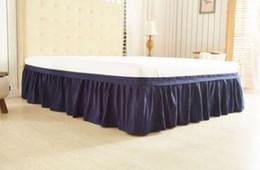 Großhandel Bettrock Gebürstete Stoffbezüge ohne Bettfläche Vollgummiband Bettröcke 38cm Höhe Tagesdecke