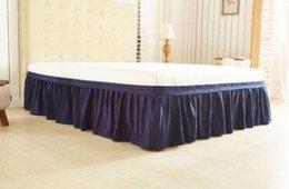 Ingrosso Copriletto in tessuto spazzolato copriletto senza superficie del letto Gonna a fascia elastica a grandezza naturale da letto Copriletto da 38 cm
