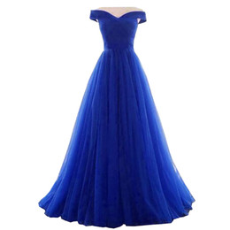 Size 22w Royal Blue Evening Gown UK - A Line Evening Dress 2018 Long Royal Blue Dress evening gowns plus size abito da sera robe de soiree cheap dresses