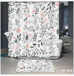 $enCountryForm.capitalKeyWord NZ - Printing 5 Designs Waterproof Flamingo Plant Cartoon Bathroom Accessories Curtain for Living Room Bedroom Windows Luxury Home Decor