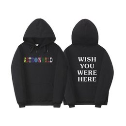 Wholesale letter sweatshirts for sale – custom World Mens Designer Hoodies WISH YOU WERE HERE Printed Sports Mens Hooded Sweatshirts Casual Male Apparel