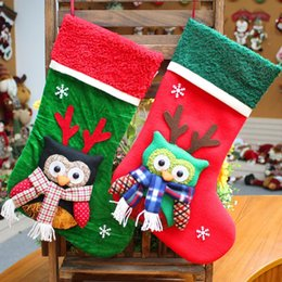$enCountryForm.capitalKeyWord NZ - Household Decoration Christmas Stockings Cute Candy Gift Bag Portable Owl Decor Christmas Decoration