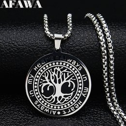 Seven link online shopping - 2019 Fashion Seven Pointed Star Witchcraft Stainless Steel Necklaces Women Statement Necklace Jewelry cadenas mujer N19363