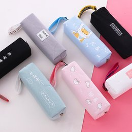 $enCountryForm.capitalKeyWord Australia - kawaii Cat Dog Pencil Bag Case NEW Design Zipper Pencil Bags Pen Holders School Supplies Stationery Box for student gifts
