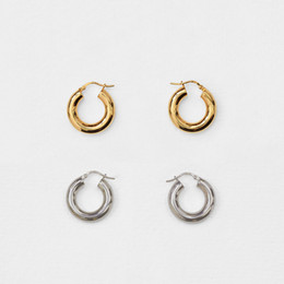 couples earrings 2019 - HZ 2019 Minimalist Cool Gold Metal Large Circle Geometric Round Big Hoop Earrings for Women Girls Couple Wedding Party J