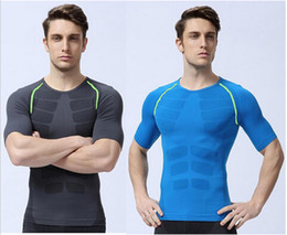 tight soccer shorts Australia - men compression tights base layer running Fitness Exercise maillot gym soccer short sleeve tops tees shirt jersey