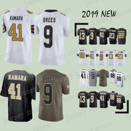 New Orleans jerseys Saints 41 Alvin Kamara 9 Drew Brees 23 Marshon  Lattimore 13 Michael Thomas new jersey 2019 c011138ad