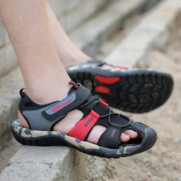 $enCountryForm.capitalKeyWord NZ - Leader Show Men Fashion Casual Shoes Summer New Adult Outdoor Beach Shoes High Quality Comfortable Man Baotou Sandals Breathable