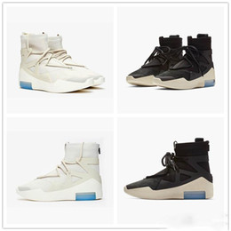 Support Boots NZ - Newest Fear of God 1 Men Shoes FOG Designer Boots basketball shoes Light Bone Black Sail Sports Zoom Mens Sneakers(Support air transport)