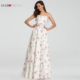 $enCountryForm.capitalKeyWord Australia - Robe De Soiree Pretty Beach Dress Elegant A Line Floral Print Evening Dress Long Summer Boho Dress Vestido De Festa T190604