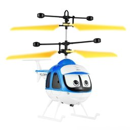 rc drone planes NZ - Nduction Flying Cartoon Rc Helicopter Parts & Accessories Electric remote control Toys Mini Remote Control Drone Aircraft For Kid Plane Floa