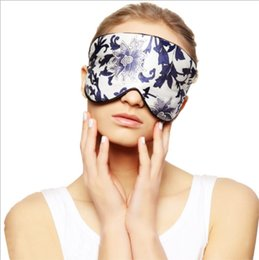 Wholesale Womens Mens Pure Silk Filled Eye Mask Cover Eyeshade Blindfold Sleep Eye Patch bed
