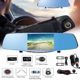 "$enCountryForm.capitalKeyWord NZ - 5"" FHD 1080P 170 Degree Dual Lens Car DVR Camera Parking Rearview Mirror Video Recorder Dash Cam Night Vision GPS Navigation"