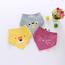 Free Face Products Australia - 2019 New Cotton Double Layer Triangle Towel Baby Products Cute AB Face Saliva Towel Animal Babies Bib