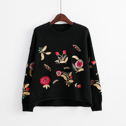 $enCountryForm.capitalKeyWord NZ - Promotion ! KA 26 brand Embroidered sweaters pollver cotton terry long sleeve sweatshirts with flowers original colors