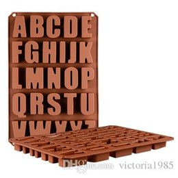$enCountryForm.capitalKeyWord Australia - High quaility Silicone 26 letters of the alphabet Cake Decorating Bakeware Mold Chocolate Mould Cooking Tool Food DIY Making