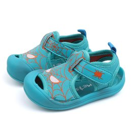 $enCountryForm.capitalKeyWord UK - Summer New Toddler Children Functional Sandals Anti-kick Soft Leather Child Baby Pure Cotton Shoes Kids Boys Girls Beach Shoes Y19051303