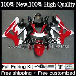 Honda Cbr929 Australia - Body Red white ! For HONDA CBR900 RR CBR 929RR CBR 900RR CBR929RR 00 01 54PG15 CBR 929 RR CBR900RR CBR929 RR 2000 2001 Fairing Bodywork