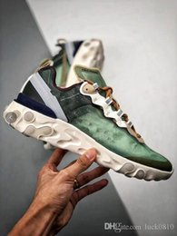 Discount electric 45 - 2019 New react element 87 men women casual shoes sail Signal Blue Green Mist Electric Yellow Volt University Red shoe si