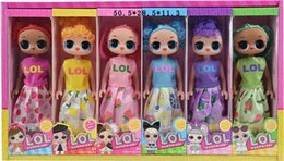 figure classics Australia - 6 style Hot Classic lol doll with Fruity Aroma doll hottest toys cute Kid Toys Realistic Reborn Dolls 9 inch LL410