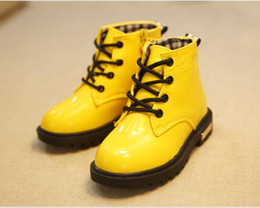 Autumn winter childrens Martin boots Kids shoes High Sneakers PU Leather Boys girl Baby snow boots