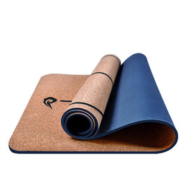 Blue Gymnastics Mats Australia - 6MM 183*65CM Red Black Cork Natural Rubber Yoga Mat Fitness Women Men Pilates Gymnastics Pad Cushion Indoor Exercise Sport Mats