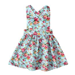 $enCountryForm.capitalKeyWord UK - Toddler Girls Princess Party Dress Kids Dresses For Girls Sleeveless Floral Print Clothes Kids Summer Dress Sundress