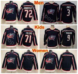 f6236bf6 Men Women Youth Columbus Blue Jackets Jerseys Hockey 9 Artemi Panarin 71  Nick Foligno 72 Sergei Bobrovsky 3 Seth Jones Woman Kids Man