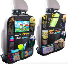 "kick mats Australia - 2 Pack Car Backseat Organizer with 10"" Tablet Holder 9 Pockets Seat Back Protectors Kick Mats for Toy Bottle Book Drink Travel Accessaries"