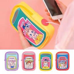 Earphone Zipper Yellow Australia - Cartoon Women Electronic Storage Bag USB Charger Earphone Bags Coin Organizer Case Portable Mini Wallet LLA172