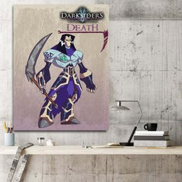 Cartoon Star Picture Australia - Darksiders Death Wall Art Star Canvas Wars Posters Prints Painting Wall Pictures For Office Living Room Home Decor Artwork