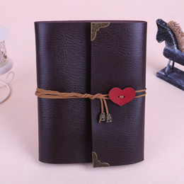 2020 Vintage DIY Leather Photo Album Love Tie Rope Creative Cover Folding Frame with Airplane Box on Sale