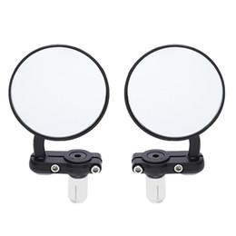 2adet Evrensel Motosiklet Ayna Alüminyum Siyah 22mm Bar Bitiş Dikiz Yan Aynalar Motor Aksesuarları Kulp