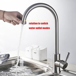$enCountryForm.capitalKeyWord Australia - Double water outlet modes kitchen faucet stainless steel brushed Rotatable easy switch kitchen sink mixer water tap new design