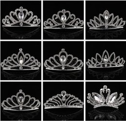 $enCountryForm.capitalKeyWord Australia - Luxury Crystal Hair Comb Full Rhinestone Crown Women Wedding Jewelry Crystal Swan Heart Hairpin Tiaras Girls Baby Hair Accessories