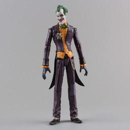 "Dc Superman Figure Australia - Dc Suicide Squad Joker with Cloth Action Figure PVC Doll Collectible Model Toy 7 ""18cm Suicide Squad Joker Character"