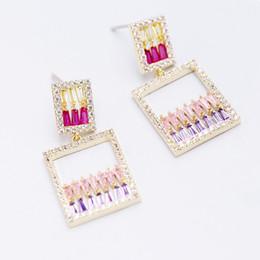 Korean Perfumes NZ - Korean fashion network celebrity perfume bottle long earrings luxury zircon silver needle earrings super fairy tide temperament ear jewelry