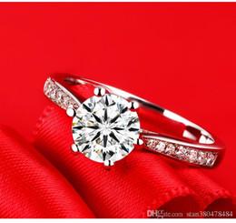 Korean Brass Australia - Korean version of the best selling diamond engagement ring jewelry silver plated jewelry wholesale high quality zircon ring anniversary jewe