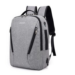 tablet anti theft 2020 - Anti-theft Backpack 15.6 inch Laptop Rucksack Travel Backpack Large Capacity Business Bags USB Charge College Student Sc