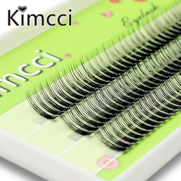 eyelashes clusters Canada - Kimcci 120 Bundles 2 Layers 3D Eyelash Extension Russian Volume Natural Faux Eyelashes Individual Cluster Lashes Makeup Cilios
