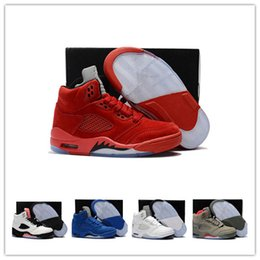 buy online 9bdd1 c294d (avec boîtes) Baskets New Jumpman 4 Enfants chaussures de sport pour enfants  Sports de plein air chaussures de sport Red Chicago Boy Girls 5s baskets de  ...