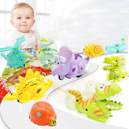 $enCountryForm.capitalKeyWord Australia - Kids Pressure Inertial Sliding Dinosaur Toy Mini Press Slide Crawling Dinosaur Car Gift Intellectual Development Present Single OPP Bag