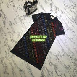 $enCountryForm.capitalKeyWord NZ - Women's Letter Rhinestone Shirt Dresses Lapel Neck The High-End Custom Two Colors Mini Shirt Polo Shirt Dresses S-M-L