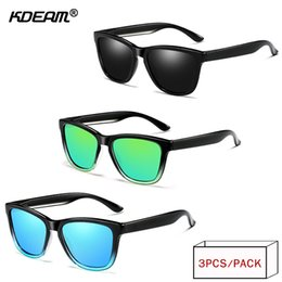 1afb26ec391ce KDEAM 2018 Year-End Promotion Polarized Sunglasses Men HD Driving Sun  Glasses Sports Style UV400 Travel Goggles 3 Pieces XH63