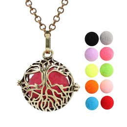 $enCountryForm.capitalKeyWord Australia - Antique Bronze Tree of Life Essential Oil Diffuser Ball Locket Pendant Perfume Cage Angel Bola Mexican Chime Ball for Women Jewelry Making