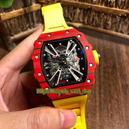 $enCountryForm.capitalKeyWord Australia - 4 Styles Best version RM12-01 NTPT Carbon Fiber Red Case Racing chassis inspiration Dial 6T51 Automatic RM 12-01 Mens Watch Rubber Strap M7