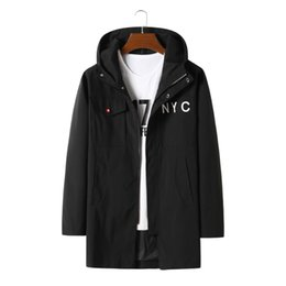Wholesale super plus size coats resale online - Spring And Autumn Plus Code Men Coat Three Hundred Catties Can Wear Casual Loose Have A Hat Super Large Jacket Size XL XL XL